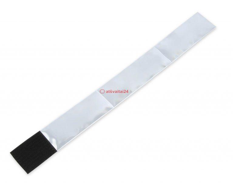 Juosta PCV su Velcro sidabrine