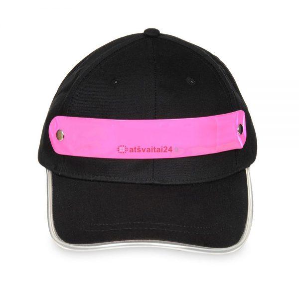Kepure su LED apsvietimu rozine 1